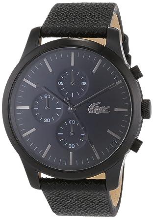 Lacoste - Reloj Cronógrafo para Hombre de Cuarzo con Correa en Cuero 2010947: Amazon.es: Relojes