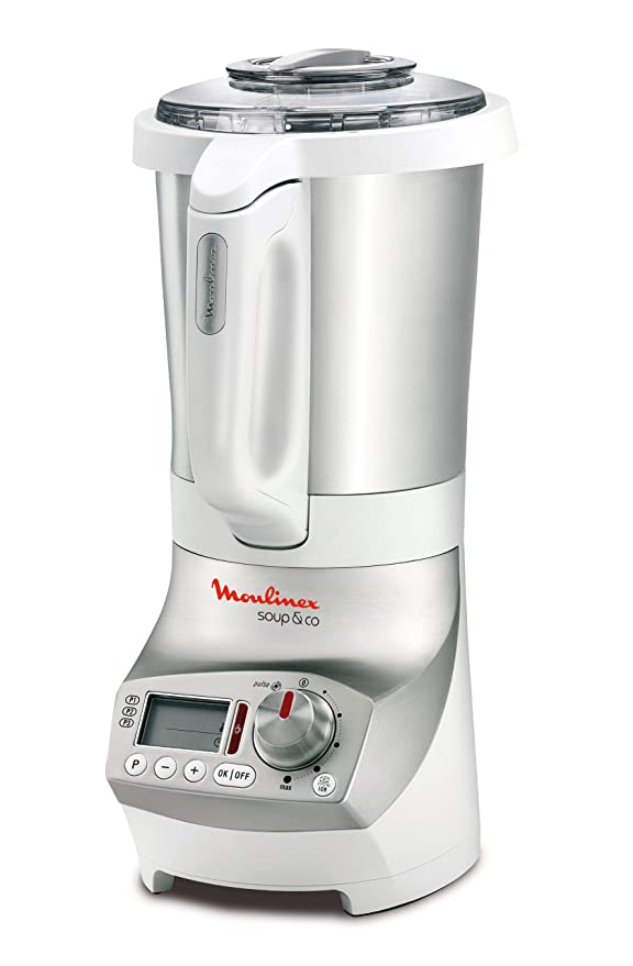 Moulinex Soup & Co Batidora de vaso 1.8L 1100W Plata, Color blanco ...