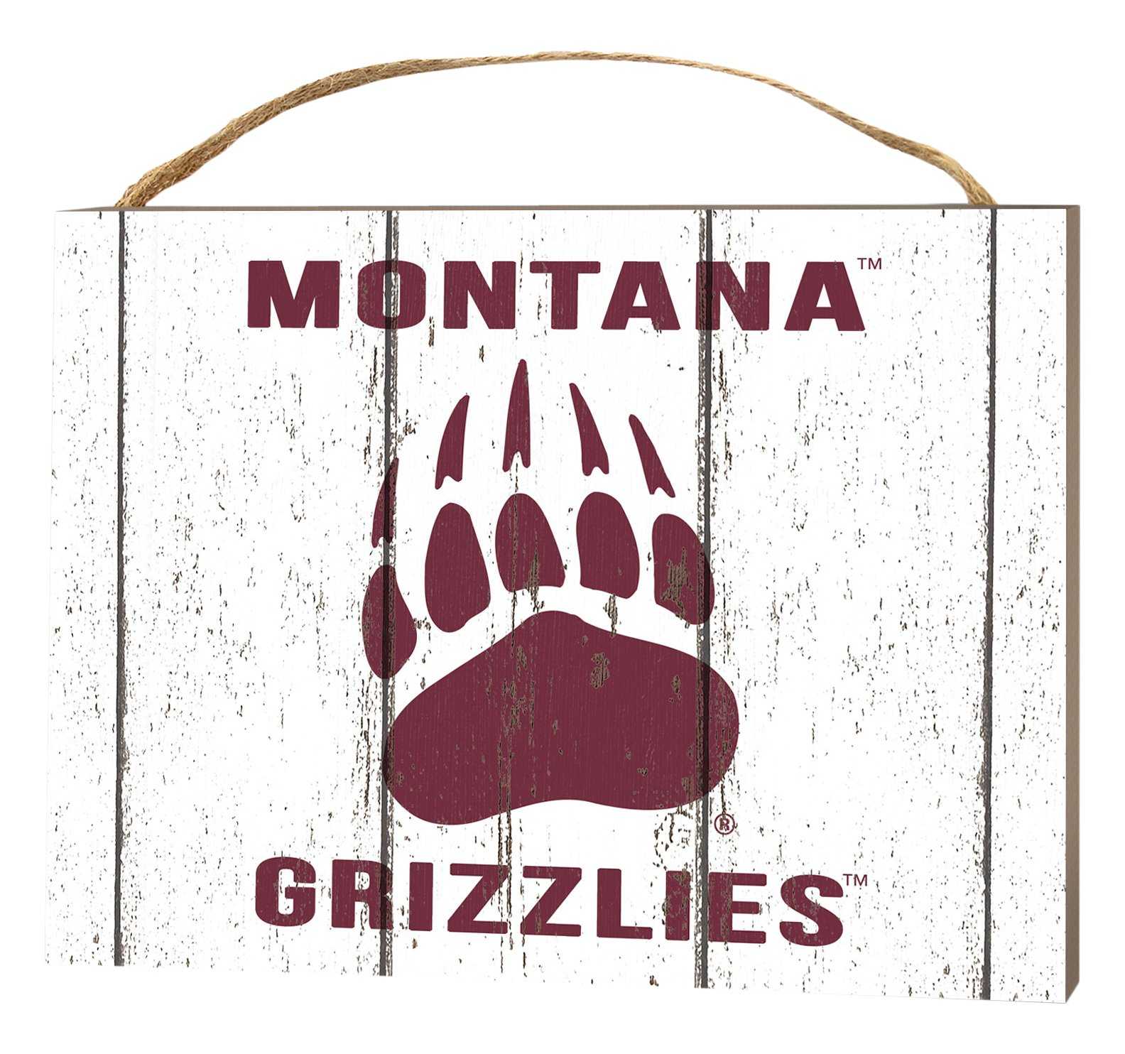 KH Sports Fan 4''X5.5'' Montana Grizzlies Weathered Logo Small College Plaque