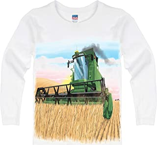 product image for Shirts That Go Little Boys' Long Sleeve Combine Harvester T-Shirt