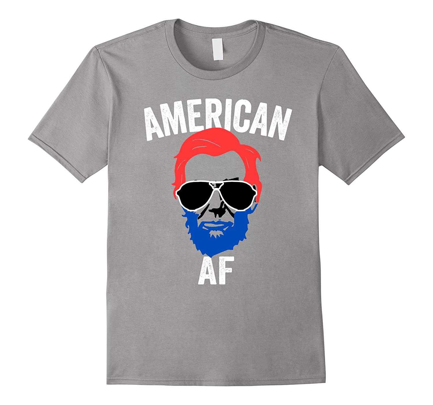 American AF Red White and Blue 4th of July-PL