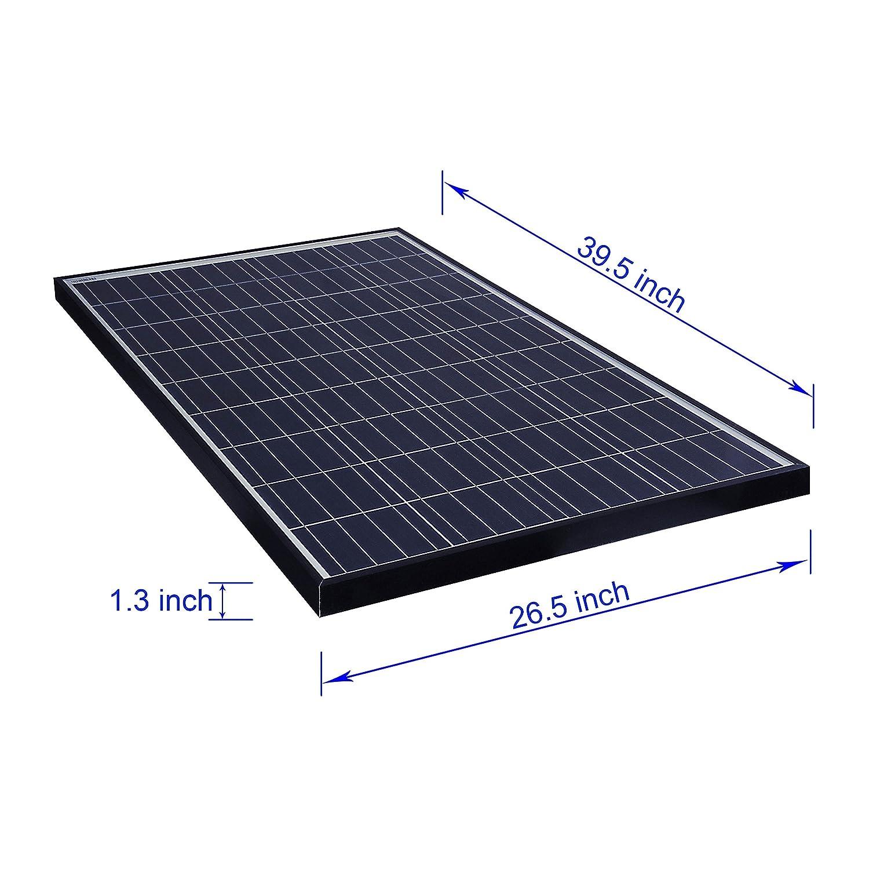 ALEKO PP100W12V 100 Watt 12 Volt Polycrystalline Solar Panel for Gate Opener Pool Garden Driveway