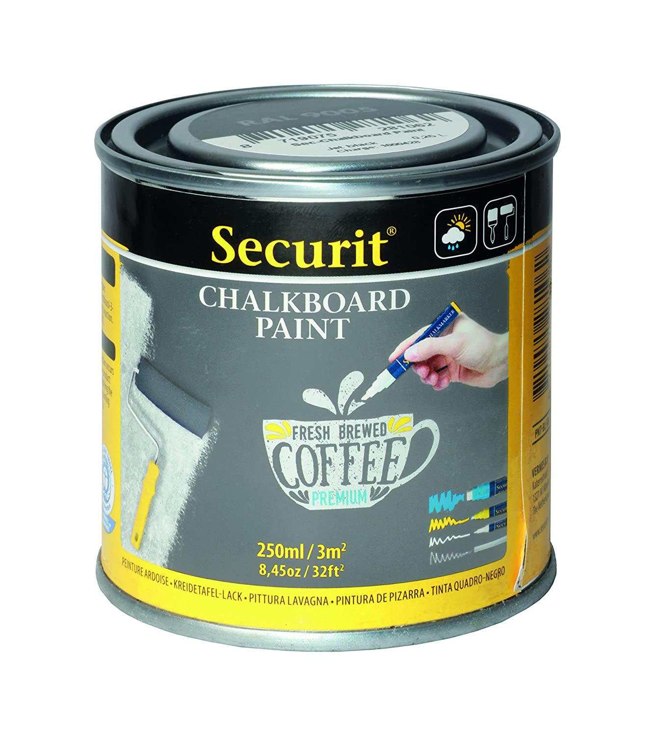 Securit PNT-GY-SM Gris 250ml - Pintura a Base de Agua ...