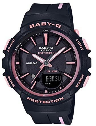 f76405c2deb5a Amazon.com  Casio Baby G Black Dial Polyurethane Strap Ladies Watch  BGS-100RT-1A  Watches