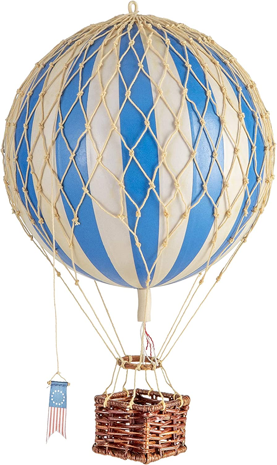 Authentic Models, Travels Light Air Balloon, Hanging Home Decor - Blue Double