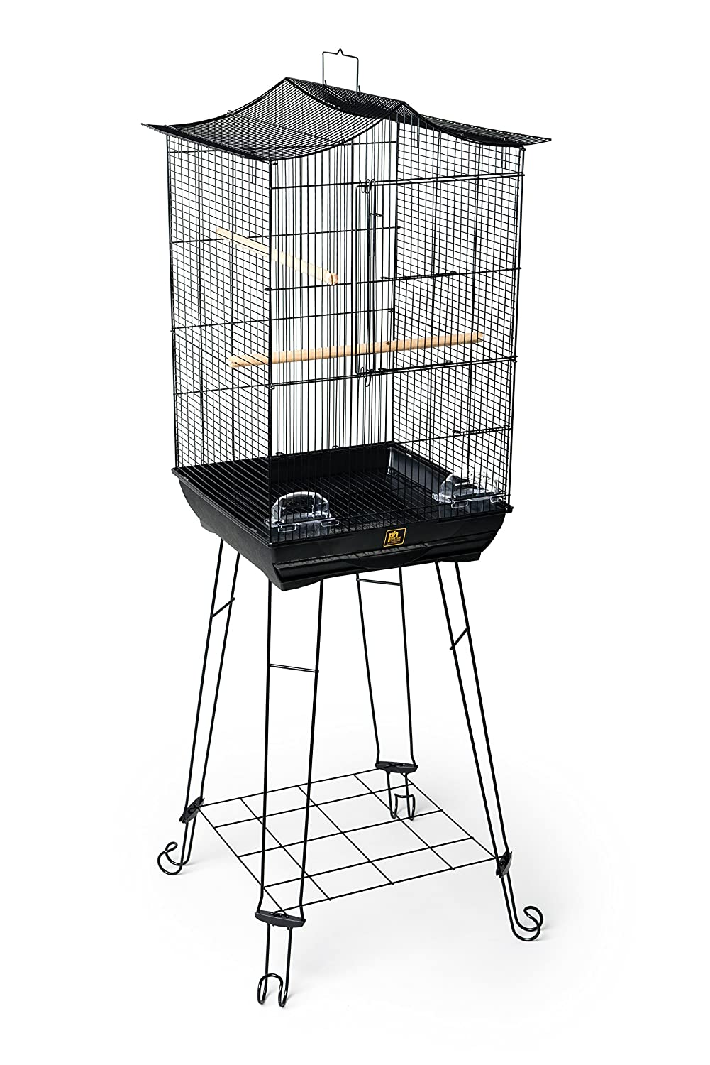 Prevue Pet Products Penthouse Suites Crown Roof Bird Cage with Black Stand Inc. 262