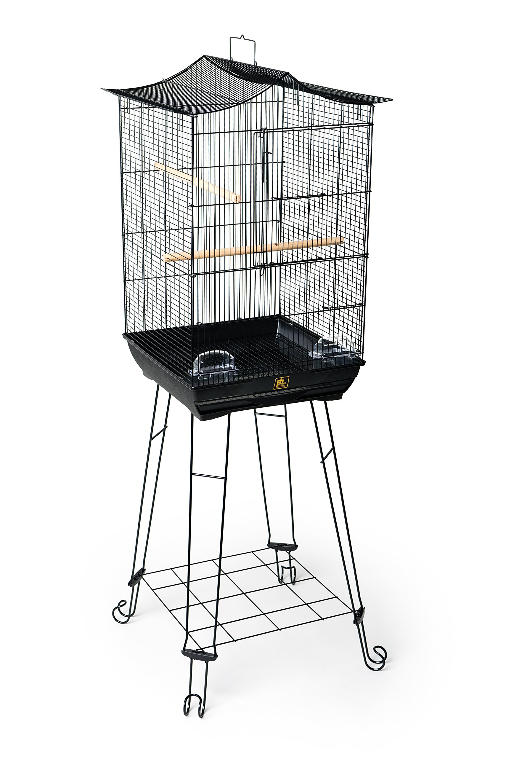 Prevue Pet Products 262 Penthouse Suites Crown Roof Cage with Stand, Black by Prevue Pet Products