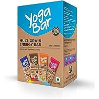 Yogabar Multigrain Variety Energy Bars - 380gm  (Chocolate, Vanilla Almonds, Cashew Orange and Nuts & Seeds), Pack of 10, 38gm x 10 Bars