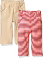 Touched by Nature Unisex Baby Organic Striped Pants 2 Pack