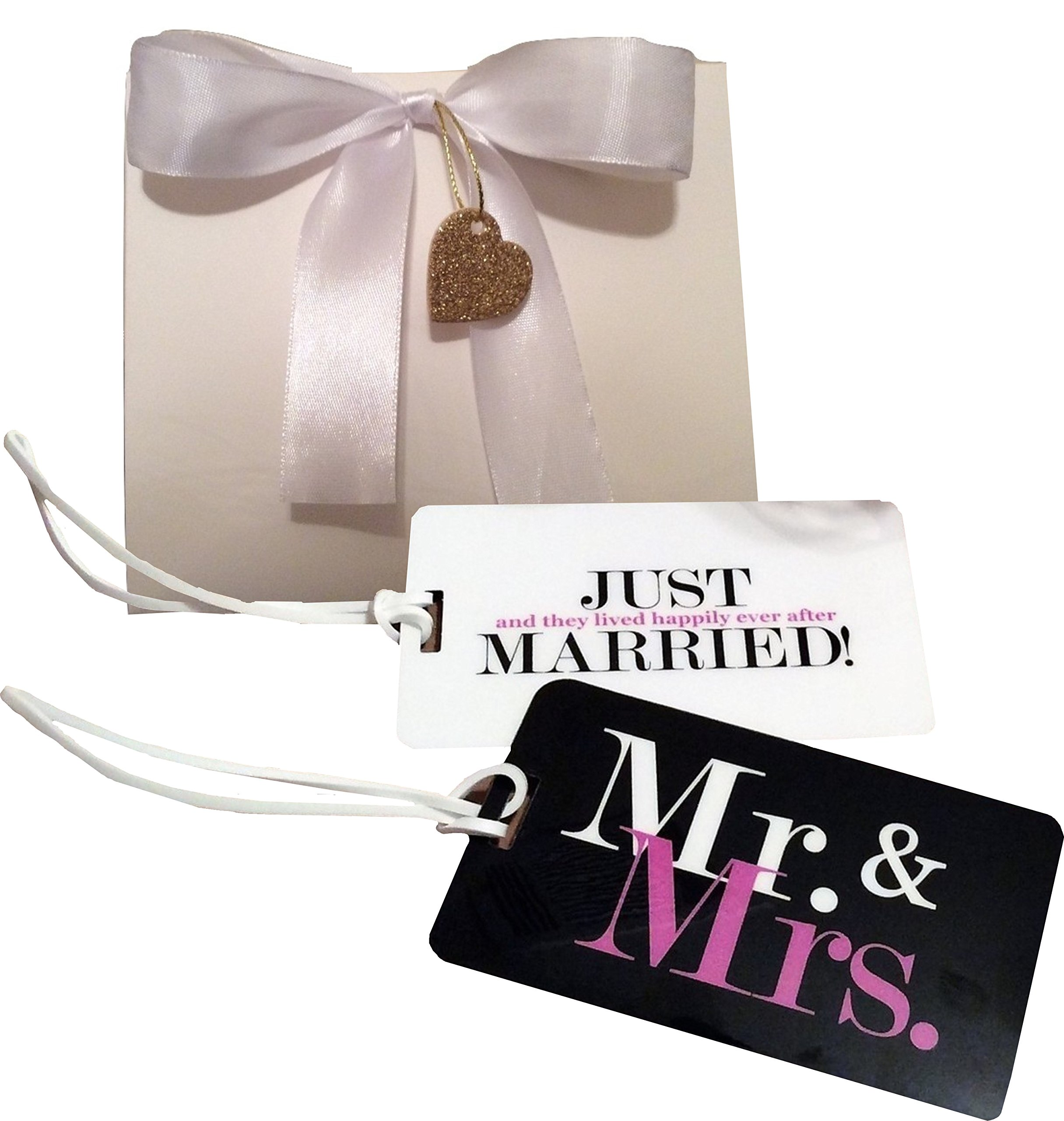 Mr. And Mrs. Just Married Luggage Tag Gift Set (Wedding, Honeymoon, Luggage Tags)