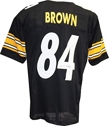 d55c7c9652c Image Unavailable. Image not available for. Color  Authentic Antonio Brown Autographed  Signed Custom Black Jersey JSA COA Pittsburgh Steelers WR