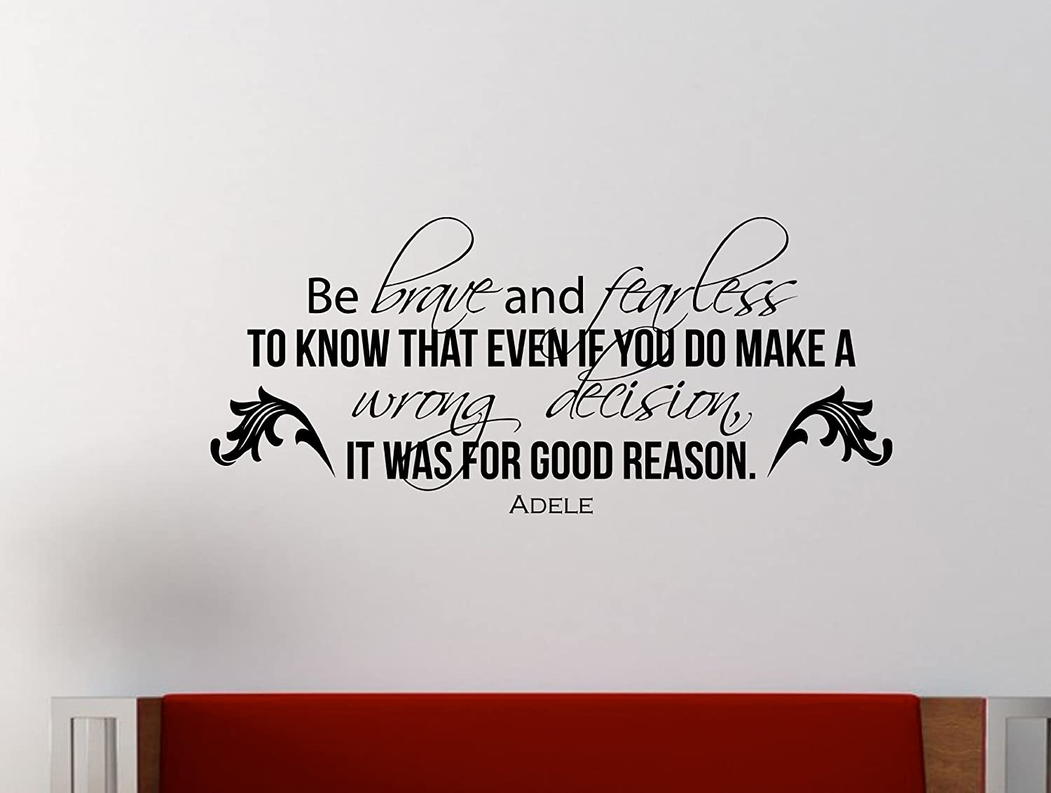 Amazon Adele Inspirational Wall Decal Quote Be Brave And