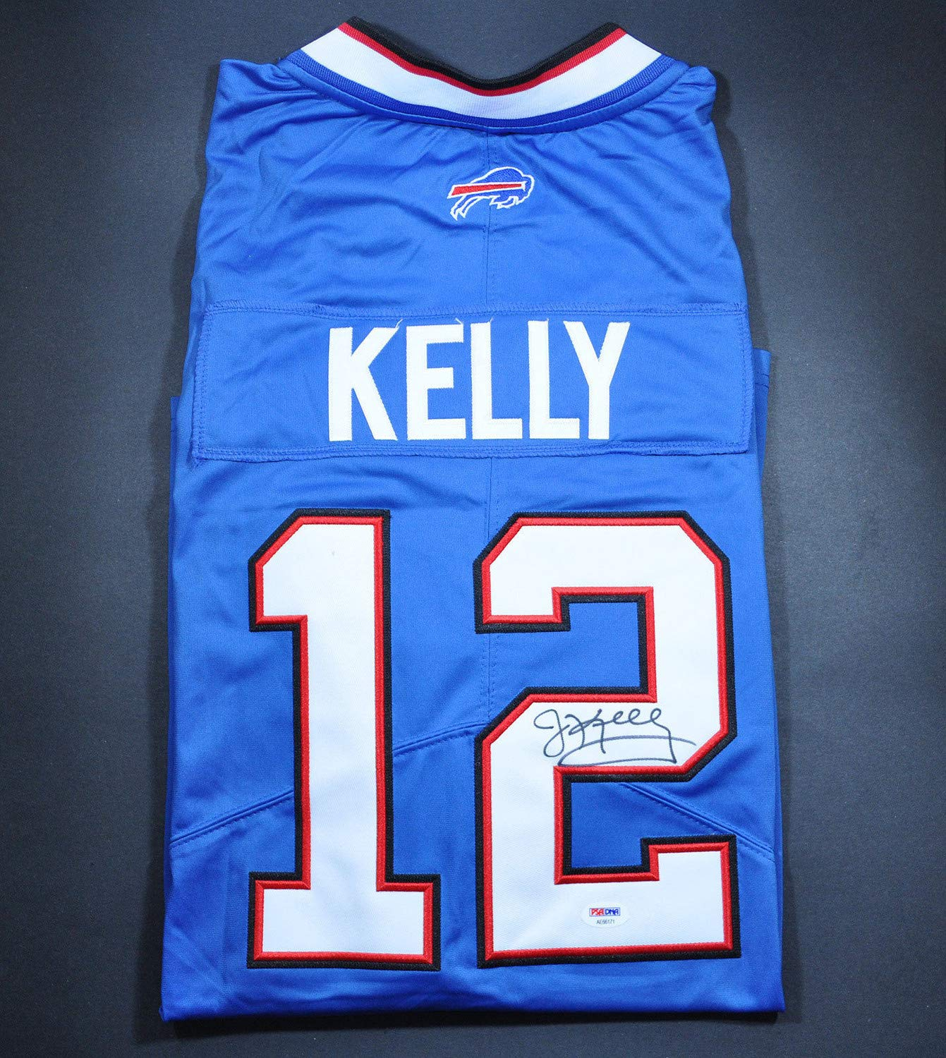 pretty nice c945f fef8e Jim Kelly Autographed Signed Autograph Bills Jersey PSA/DNA ...