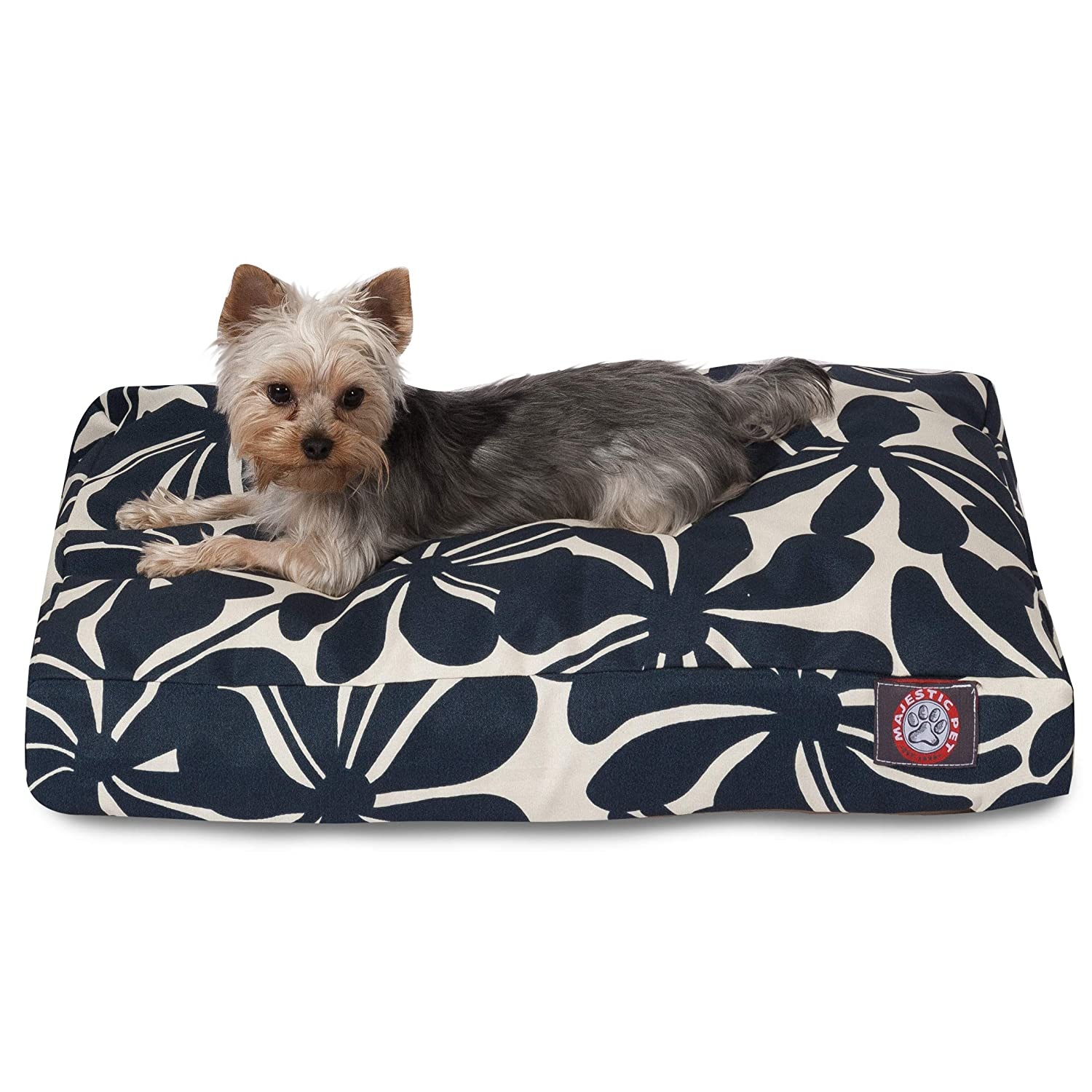 Navy SMajestic Pet Sage Plantation Small Rectangle Indoor Outdoor Pet Dog Bed With Removable Washable Cover Products