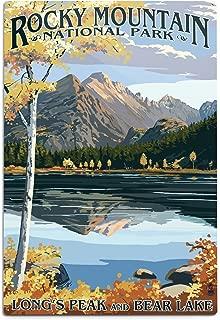 product image for Lantern Press Rocky Mountain National Park, Colorado - Longs Peak and Bear Lake Fall 33634 (6x9 Aluminum Wall Sign, Wall Decor Ready to Hang)