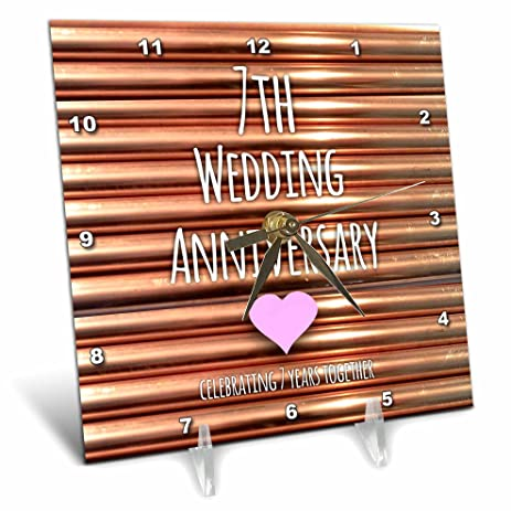 Amazon.com: 3dRose dc_154436_1 7Th Wedding Anniversary Gift Copper ...
