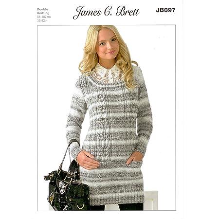 13e566149a7cf James C Brett DK- JB097 Ladies Sweater Pattern 81-107 cm (32-42 in)   Amazon.co.uk  Kitchen   Home