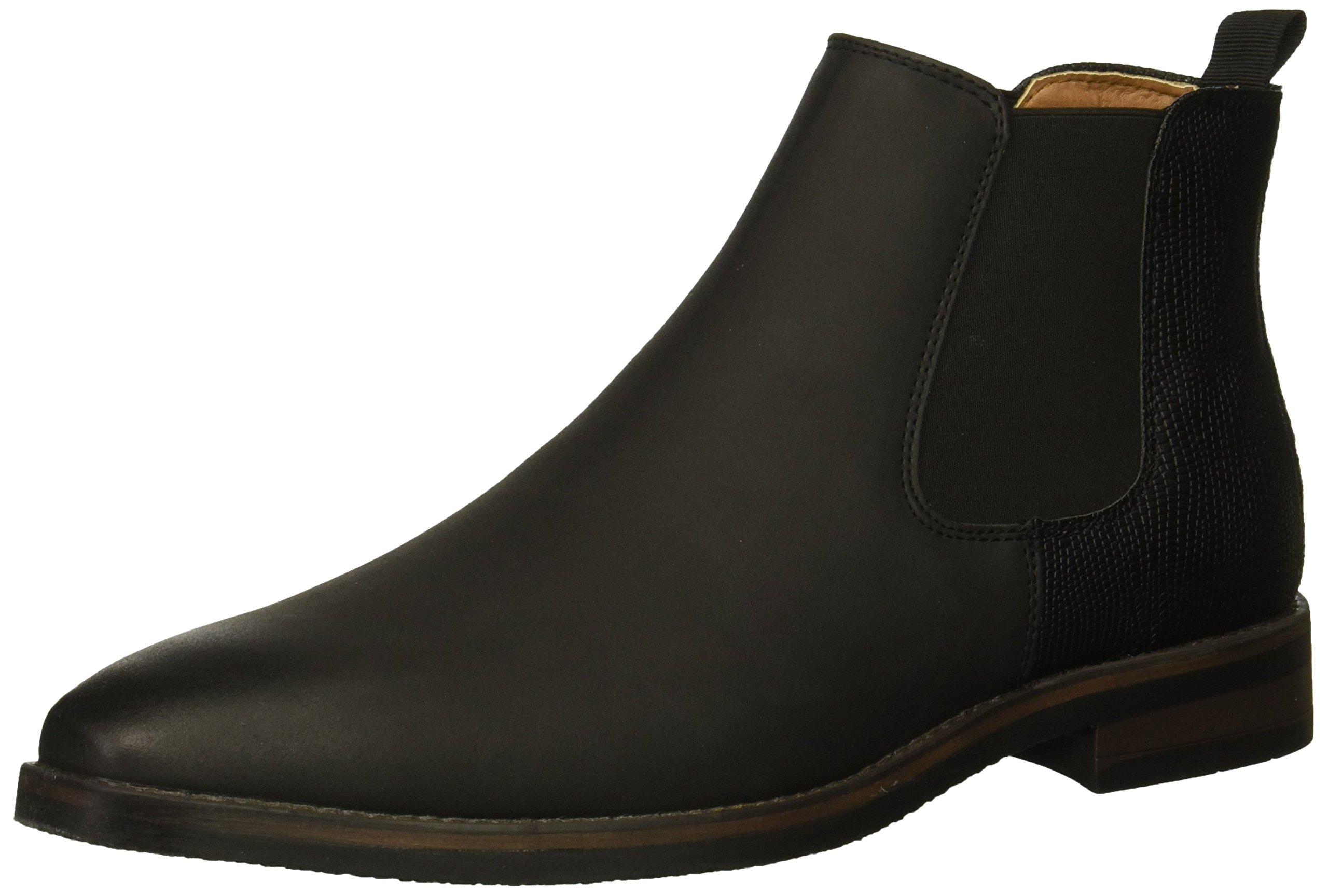 Madden Men's M-Alpha Chelsea Boot, Black Suede, 10 M US