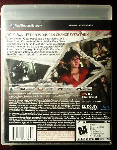Amazon Heavy Rain Video Games