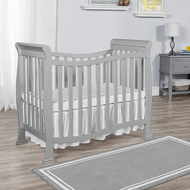 Dream On Me Violet Mini Crib in Pebble Grey