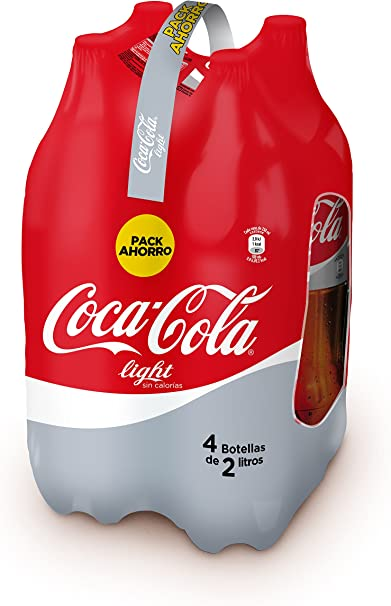Coca-Cola Light Botella - Pack de 4 unidades x 2 l: Amazon.es ...