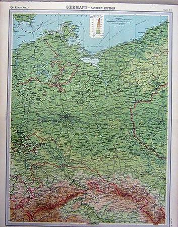 1920 Karten Deutschland Ostabschnitt Farbe Amazon De Kuche