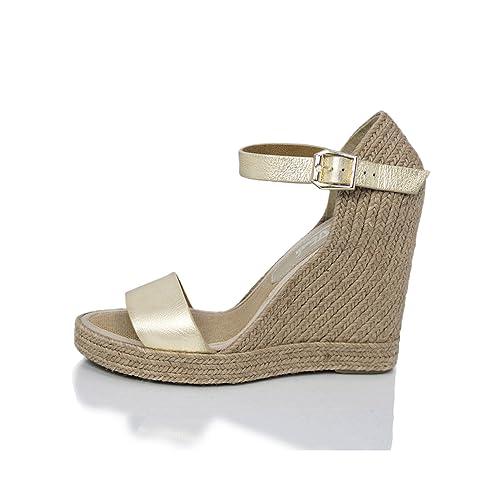 MTBALI - Sandalia Alpargata con cuña, Mujer - Modelo Oceanside Platine: Amazon.es: Zapatos y complementos
