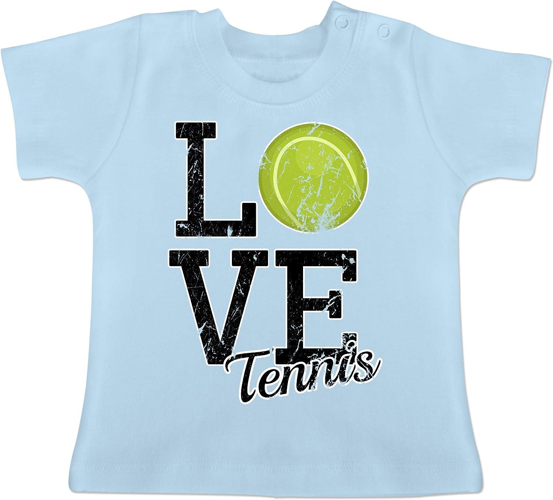 Love Tennis Shirtracer Sport Baby Baby T-Shirt Kurzarm