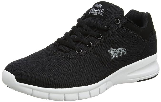 LMA486 - Zapatillas de Running de Tela Hombre, Color Negro, Talla 44 Lonsdale