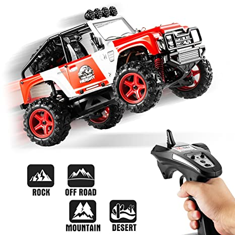 RC Cars, Abask 40+MPH 2 4GHz 4x4 1/22 Remote Radio Control Cars High Speed  Off-Road Racing High-Performance Trucks Shockproof Electronics Best Gift