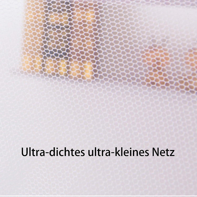 """35.43/"""" Yangkee Moskitonetz,Universal rechteckige Polyestergewebe Single seitliche /Öffnungen Einzelbett h/öngematte Moskitonetz f/ür Zuhause /& Reise-Betthimmel 59/""""(Wei/ß,1 Pcs) 74.8/"""""""