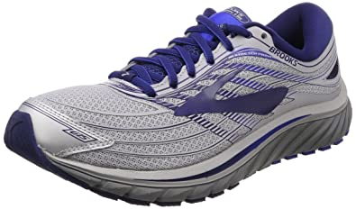 ad43974c09b Image Unavailable. Image not available for. Color  Brooks Men s Glycerin¿ 15  Silver Navy Blue ...