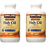Kirkland Signature Fish Oil Concentrate with Omega-3 Fatty Acids, 1000mg, 2 Pack(400 Softgels)