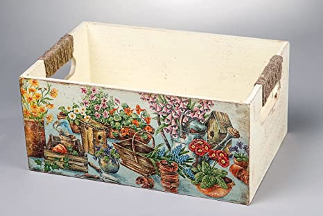 """Caja para costura de madera """"Bodegon"""", decoupage"""
