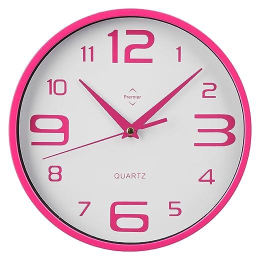 2 opinioni per Premiere Housewares 2200573 Orologio da Parete Rotondo, Rosa Caldo