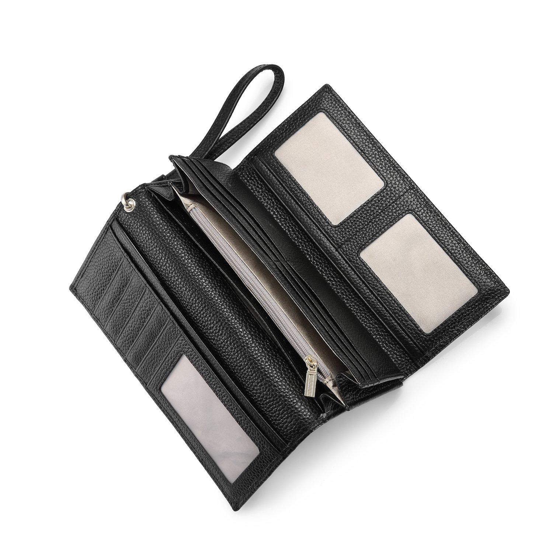 48530e186 Carteras Mujer Piel Monederos de Mujer RFID Bloqueador Billeteras Larga  Cartera para Mujer con Gran Capacidad: Amazon.es: Equipaje