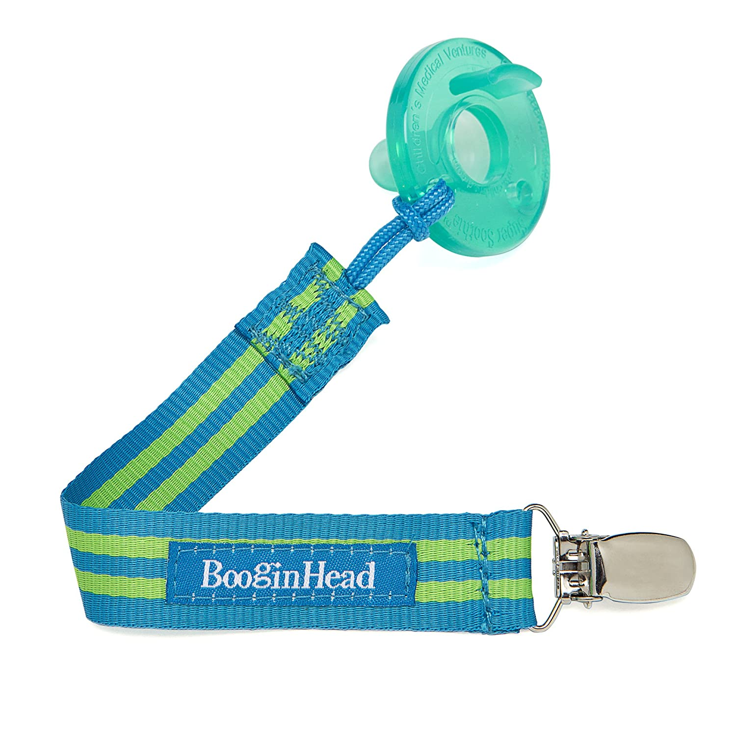 BooginHead - PaciGrip Pacifier Clip and Pacifier Holder with Universal Loop - Delicate Dot Green, Green and White PG-DDG
