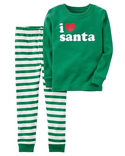 3085c6f21db8 Amazon.com  Carter s Carters Baby Unisex Holiday 2-Piece Santa Snug ...
