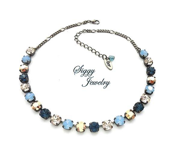 760b1c8b8 Amazon.com: Swarovski Crystal Necklace, Bracelet, Earrings or 3 ...