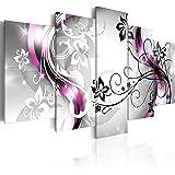 Quadro 200x100 cm ! Tre colori da scegliere - 5 Parti - Grande Formato - Quadro su tela fliselina - Stampa in qualita fotografica - fiori astrazione 020110-151 200x100 cm B&D XXL