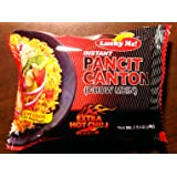 Lucky Me Instant Pancit Canton (CHOW MEIN) Extra Hot Chili Flavor 60g