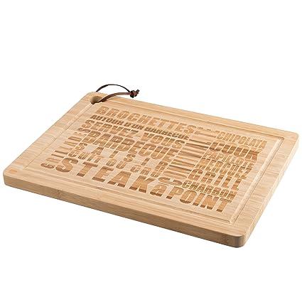 Levivo Tabla de Cocina de Bambú, Tabla de Cortar con Diseño de Barbacoa, Higiénica