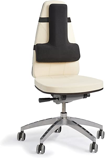 OPTP Thoracic Lumbar Back Support - Soft Seating Cushion for Car Seats, Desk Chairs, Airplanes, Stadiums & Theaters Providing Complete Sitting Support