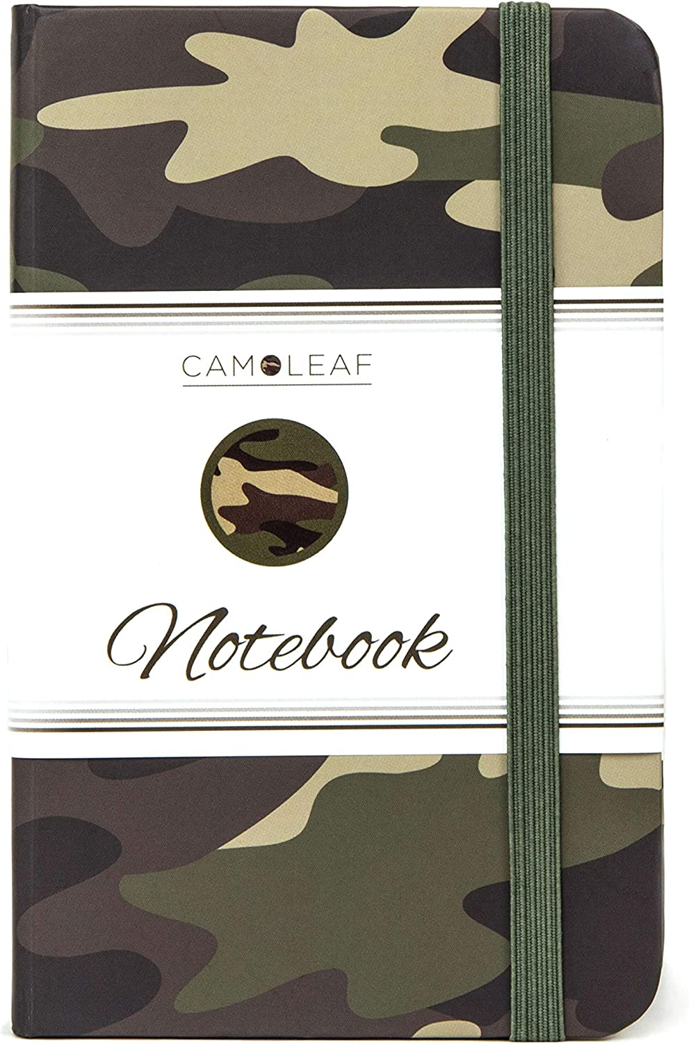 "Pocket Notebook | Journal 3.5 x 5.5"" - Small/Mini Size - Premium Printed Camouflage Cover Design - Thick 100gsm Acid-Free Ivory Paper - Lightly Ruled - by CAMOLEAF (Camo)"
