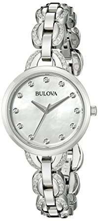 Amazon.com: Bulova Womens 96L203 Analog Display Japanese Quartz Silver Watch: Bulova: Watches
