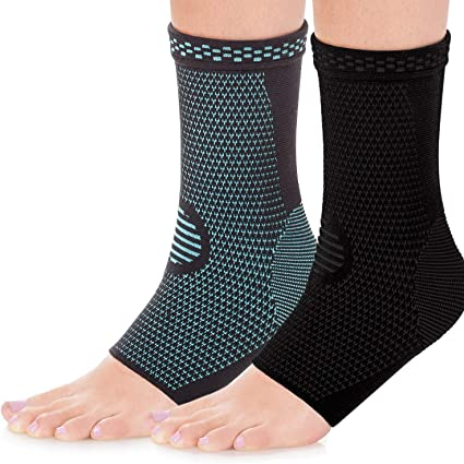 1 Pair Elastic Silicone Gel Arch Support Brace Wrap for Heel Pain Flat Foot HS