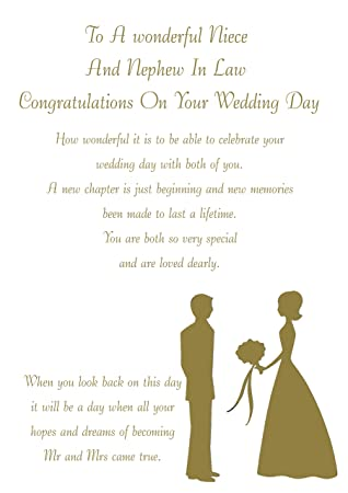 Niece And Her Husband On Wedding Day Card