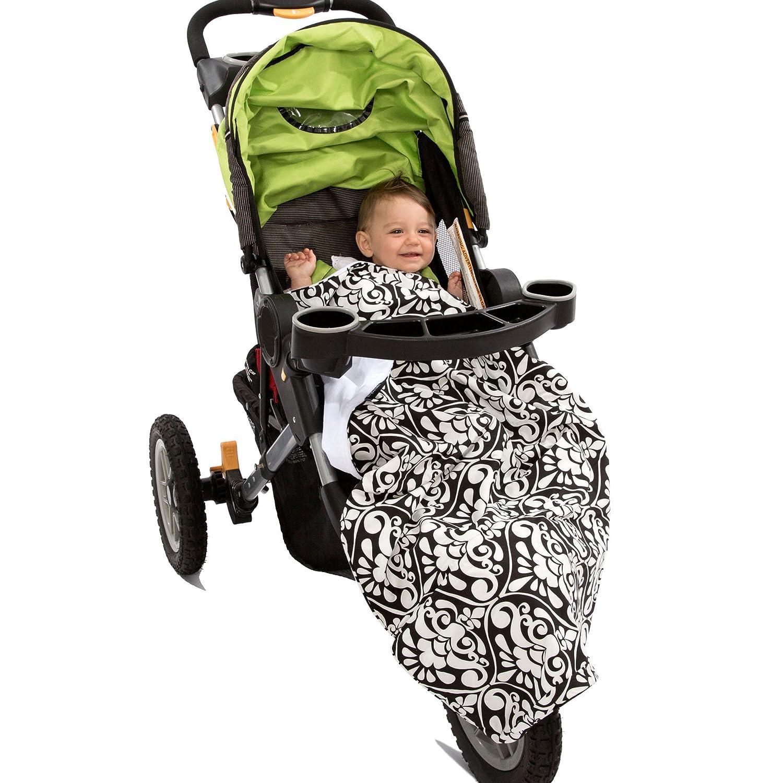 White//Blue 1-Pack Bubbles in Water Ah Goo Baby Stroller Blanket
