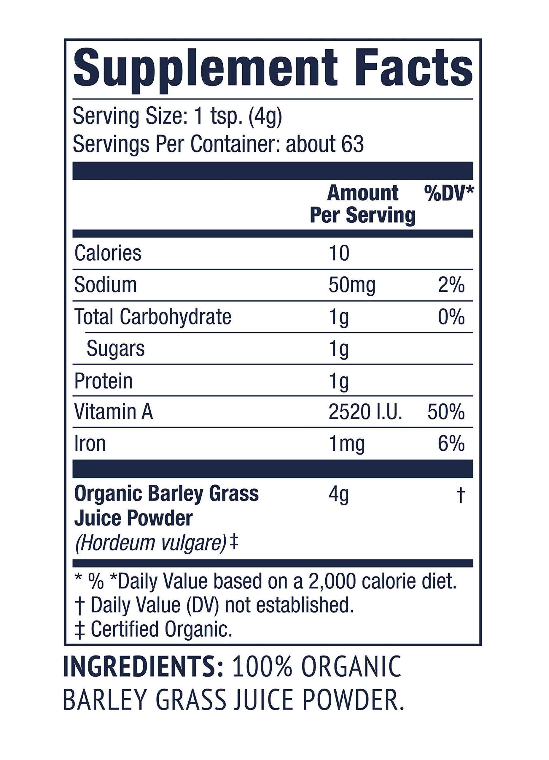 Vimergy USDA Organic Barleygrass Juice Powder (250g) X 2 Bags