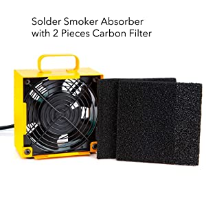 Solder Smoker Absorber Remover Fume Extrator Smoke Prevention Absorber DIY Working Fan for Soldering Station